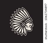 american native chief head icon.... | Shutterstock .eps vector #1062734897