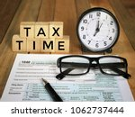 tax filling concept    tax time ... | Shutterstock . vector #1062737444
