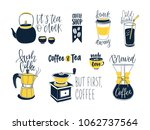 set of compositions with... | Shutterstock .eps vector #1062737564