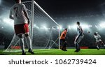 soccer game moment  on... | Shutterstock . vector #1062739424