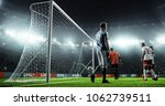 soccer game moment  on... | Shutterstock . vector #1062739511