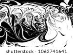 black and white liquid texture. ... | Shutterstock .eps vector #1062741641