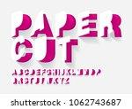 paper cut typography design... | Shutterstock .eps vector #1062743687