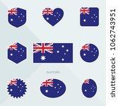 australia flag. national flag... | Shutterstock .eps vector #1062743951