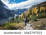 hiking at plain of six glaciers ...