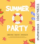 holiday summer party top view | Shutterstock .eps vector #1062748211