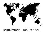 flat illustration world map... | Shutterstock . vector #1062754721