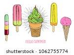 vector hand drawn ice cream.   Shutterstock .eps vector #1062755774