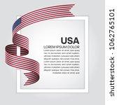 usa flag background | Shutterstock .eps vector #1062765101