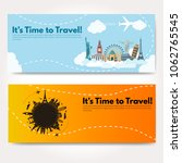 it s time to travel.trip to...   Shutterstock .eps vector #1062765545