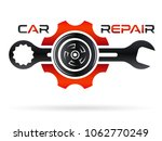 car repair shop   wrench  tire... | Shutterstock .eps vector #1062770249