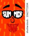 summer is coming. inscription... | Shutterstock .eps vector #1062772334