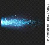 lightning flash discharge of... | Shutterstock .eps vector #1062773837