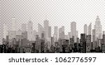 white windows abstract city... | Shutterstock .eps vector #1062776597
