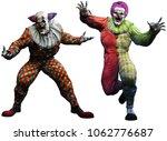 Killer Clowns 3d Illustration