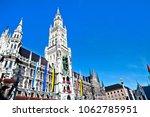 town hall on marienplatz square ...   Shutterstock . vector #1062785951