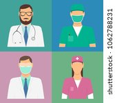 doctor icon set. medical... | Shutterstock .eps vector #1062788231