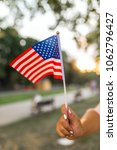 american beautiful  flag | Shutterstock . vector #1062796427