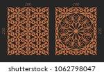 laser cutting set. woodcut... | Shutterstock .eps vector #1062798047