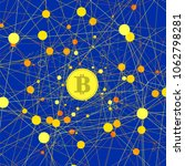 set of yellow bitcoin icons on... | Shutterstock . vector #1062798281