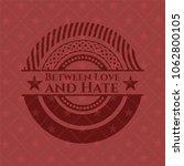 between love and hate retro... | Shutterstock .eps vector #1062800105