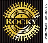 rocky gold shiny badge | Shutterstock .eps vector #1062800177