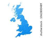 map blue of united kingdom... | Shutterstock .eps vector #1062800489