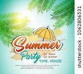 vector summer background with... | Shutterstock .eps vector #1062806531
