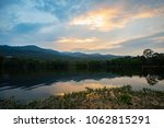 beautiful sunset sky reflex in... | Shutterstock . vector #1062815291