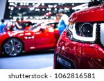 new cars at motor show... | Shutterstock . vector #1062816581