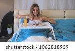 young attractive caucasian...   Shutterstock . vector #1062818939