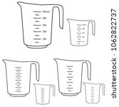 measuring cups. vector | Shutterstock .eps vector #1062822737