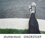 selfie of sneakers | Shutterstock . vector #1062825269