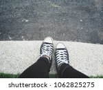 selfie of sneakers | Shutterstock . vector #1062825275