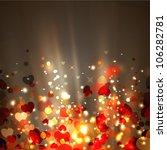 shiny hearts bokeh light... | Shutterstock .eps vector #106282781