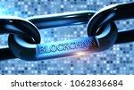 blockchain word as symbol... | Shutterstock . vector #1062836684