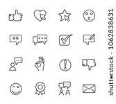icons set of testimonials.... | Shutterstock .eps vector #1062838631
