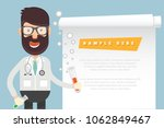 doctor and blank paper vector... | Shutterstock .eps vector #1062849467