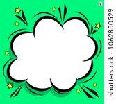retro comic design cloud. flash ... | Shutterstock .eps vector #1062850529