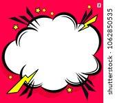 retro comic design cloud. flash ... | Shutterstock .eps vector #1062850535
