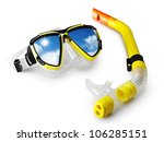 Mask And Snorkel For Scuba...