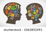 child education.children learn... | Shutterstock .eps vector #1062852491