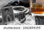 the killer is preparing for the ...   Shutterstock . vector #1062854195