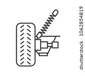 car suspension linear icon....   Shutterstock . vector #1062854819