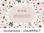 spring sale background with... | Shutterstock .eps vector #1062859817