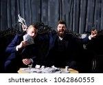 smell of money concept. men in... | Shutterstock . vector #1062860555
