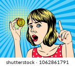 vector retro illustration  pop... | Shutterstock .eps vector #1062861791