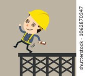 drunk and faltering worker ... | Shutterstock .eps vector #1062870347