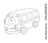 colorless  funny cartoon bus.... | Shutterstock .eps vector #1062880859