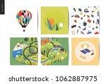magical summer landscape  ... | Shutterstock .eps vector #1062887975